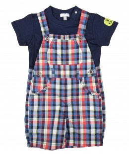 Baby Boys Dungaree Set 2 Pieces By Absorba France