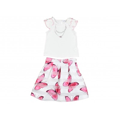 (Girl Skirt Set Made In Italy ( To Know Available Model Sizes and Request Please Contact Us WhatsApp 00966550520411