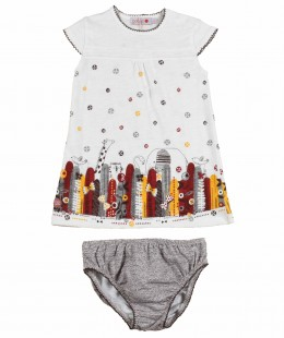 Baby Girl Dress Set 2 Pieces By Boboli Spain ( To know available model sizes and request please contact us whatsApp 00966550520411 )