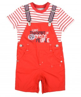 Baby Boys Dungaree Set by Boboli Spain