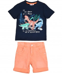 Baby Boys Set 2 Pieces By Boboli Spain ( To know available model sizes and request please contact us whatsApp 00966550520411 )