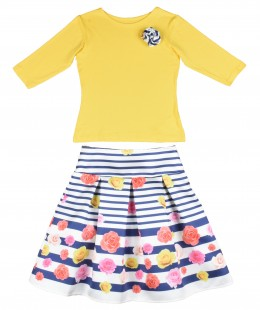 Girl Skirt Set 2 Pieces By Bufi Made In Italy ( To know available model sizes and request please contact us whatsApp 00966550520411 )