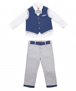 Baby Boys Set 4 Pieces By Cow Made In Italy