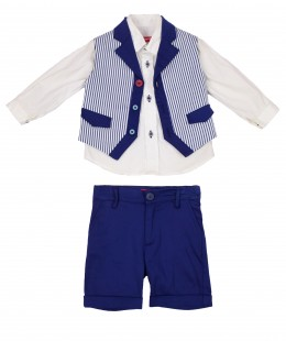 Baby Boys Set 3 Pieces By Cow Made In Italy