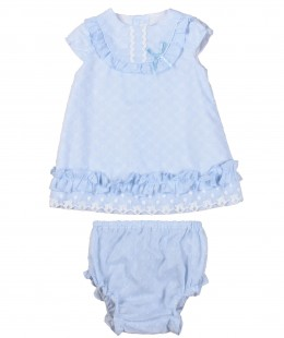 Baby Girl Dress Set By Dolce Petit ( To know available model sizes and request please contact us whatsApp 00966550520411 )