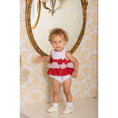 Baby Girl Overall By Dolce Petit ( To know available model sizes and request please contact us whatsApp 00966550520411 )
