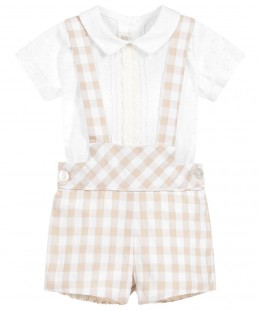 Baby Boys Dungaree Set 2 Pieces Spanish Brand by Dolce Petit