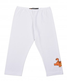 Girls Cotton Cropped Leggings Made In Italy