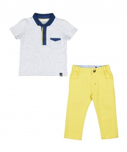 Baby Boys Set 2 Pieces By Jean Bourget France ( To know available model sizes and request please contact us whatsApp 00966550520411 )