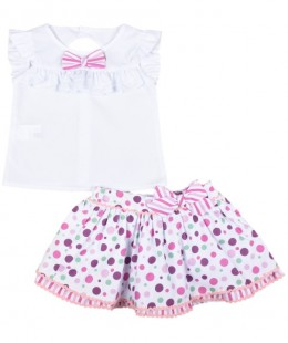 Girl Skirt Set Made In Spain ( To know available model sizes and request please contact us whatsApp 00966550520411 )