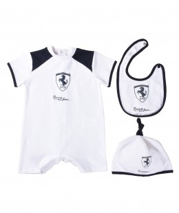 Baby Boys Overall Set 3 Pieces By Ferrari Italy