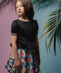 Girl Skirt Set 2 Pieces Made In Spain