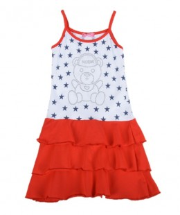 Girl Cotton Dress Made In Italy