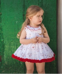 Baby Girl Dress Set 2 Pieces Made In Spain