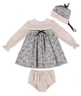 Baby Girl Dress Set 3 Pieces Made In Spain