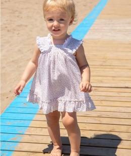 فستان  مواليد بنات ماركة Rochy صناعه اسبانيه