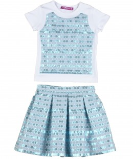 (Girl Skirt Set By Valmax Made In Italy ( To Know Available Model Sizes and Request Please Contact Us WhatsApp 00966550520411