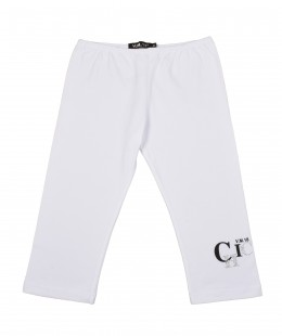 Girls Cotton Cropped Leggings by V.M.18 Italy