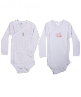 Baby Cotton Bodysuit Set Made In Spain